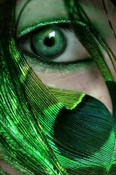 Peacock by on DeviantArt Go Green, Green Eyes, Green Colors, World Of Color, Color Of Life, Steam Punk Jewelry, Forest Fairy, Eye Art, Cool Eyes