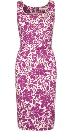 Stretch cotton dress in pink and white