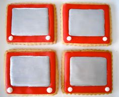 Oh Sugar Events: Etch-a-sketch Cookies!  LOVE!
