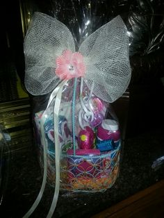 Easter basket for my godson 3 my homemade craftsgifts easter basket for girl negle Gallery
