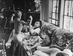 vintage everyday: Portraits of Celebrities in the Fifties and Sixties by Allan Grant...Dean martin at home with his sons