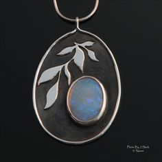 """Opal wing creations        Name: """"Purify"""" Materials: Sterling silver, crystal opal"""