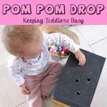 Pom Pom Drop- Keeping Toddlers Busy