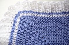 Baby Blanket Crocheted with a Petite Bow Hat to Match in by Aalexi