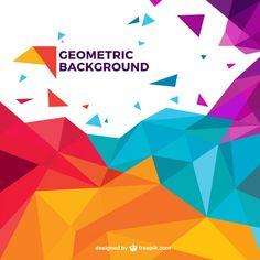 Fundo geométrico colorido Vetor grátis