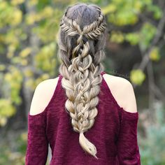 Fishtail & 4-Strand Combo Braid on myself today inspired by @theconfessionsofahairstylist ❤️ thank you for all of the lovely comments on my last post!