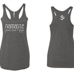 Peace Love and Yoga Om Symbol Love Yoga,Unisex Tank Top