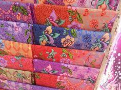 Beautiful batiks from Malacca, Malaysia.