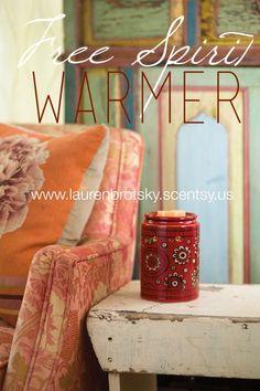 Free Spirit Scentsy Warmer www.laurenbrotsky.scentsy.us