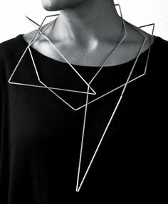 Geometric Jewellery - sculptural necklace; contemporary jewelry design // Ute Decker
