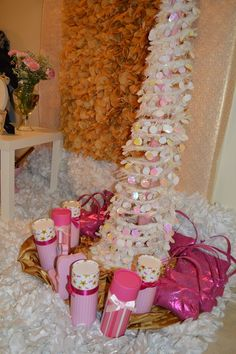 Lovely decorations at a Princess Party!  See more party ideas at CatchMyParty.com!  #partyideas #princess