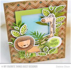 Handmade card from Debbie Olson featuring Sweet Safari