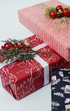 Say 'Happy Holidays' with personalized wrapping paper from Minted.