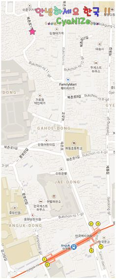Bukchon Hanok Village Map