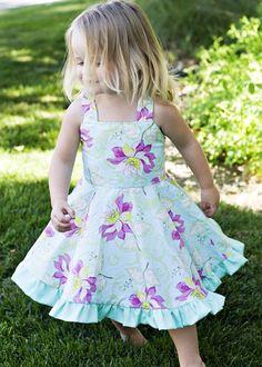 Hermoso vestido floreado.