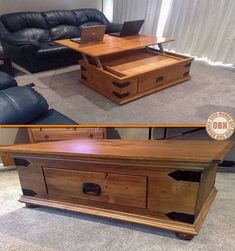 If you've ever tried using your laptop on top of a coffee table, you know it isn't comfortable. Here's a great idea for a dual purpose table. What do you think? For heaps more of furniture ideas view the full album on our site at http://theownerbuildernetwork.co/ideas-for-your-rooms/furniture-gallery/furniture-ideas/ Share your thoughts in the comments section.