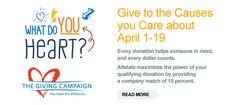 This month, we're holding our annual Giving Campaign which offers an easy way for Allstaters to support causes and organizations that matter most to them. Allstate matches of each donation. Every donation helps someone in need, and every dollar counts. Matter Most, Giving, Organizations, Counting, Read More, Hold On, Campaign, Easy, Naruto Sad