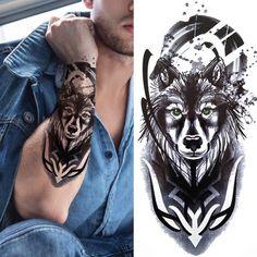 Tattoos For Kids, Love Tattoos, Tattoos For Women, Black Men Tattoos, Mens Tattoos, Arm Tattoos, Lion Flower, Henna, Tattoo Sticker