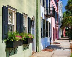 East Bay Street, Rainbow Row, Charleston, photo art, historic Charleston houses…