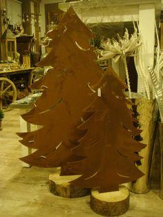 edelrost baum tannenbaum 3 dimensional rost eisen. Black Bedroom Furniture Sets. Home Design Ideas