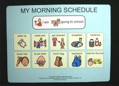 Morning schedule cards