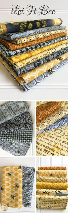 Let It Bee by Exclusively Quilters is a sweet bee themed fabric collection available at Shabby Fabrics!