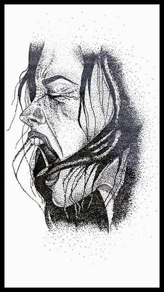 Excited to share the latest addition to my #etsy shop: The Scream #art #drawing #black #dots #tattoo #scream #sotart http://etsy.me/2jvsFRl