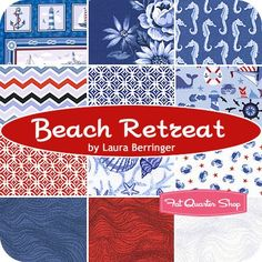 Beach Retreat Fat Quarter Bundle  - Laura Berringer for Marcus Brothers Fabrics
