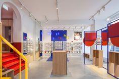 Spacon & X design Ace & Tate's new Copenhagen eye-wear store to evoke an artist's studio