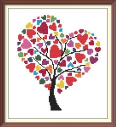 This is a PDF pattern of lovely colorful hearts on a tree. Files will be available once the payment is confirmed. The cross stitch pattern includes: Color image of the finished design DMC floss code 2 PDF patterns with symbols on color Stitches: 118 x 135 Size: 8,5 x 9,5 (with 14 count Aida) This is a cross stitch pattern only. No fabric, floss, or materials are included in the listing. The pattern is for personal use only. Thank you for stopping by! Happy stitching