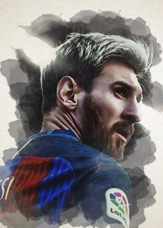 Lionel Messi poster by from collection. By buying 1 Displate, you plant 1 tree. Messi Poster, Soccer Poster, Leonel Messi, Lionel Messi Barcelona, Barcelona Soccer, Barcelona Players, Messi Tattoo, Messi Pictures, Messi Photos
