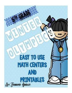 Winter Olympic Math Centers and Printables for 5th Grade