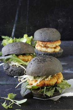 Read More: http://www.stylemepretty.com/living/2013/10/24/halibut-burgers-with-coriander-mayo/