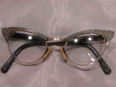 f97b817e15b5 12k Gold Filled Vintage Cats Eye Eyeglasses and Hard Case in Clothing