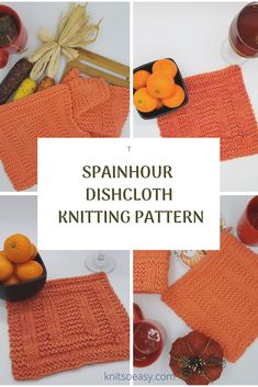 Spainhour dishcloth knitting pattern has an amazing design that looks complicated. Only you will know how easy it was to knit using only knit & purl stitches and Knit So Easy's step by step pattern instructions. Knitted Washcloth Patterns, Knitted Washcloths, Dishcloth Knitting Patterns, Knit Dishcloth, Crochet Patterns, Easy Knit Hat, Knitted Hats Kids, Knit Purl, How To Purl Knit