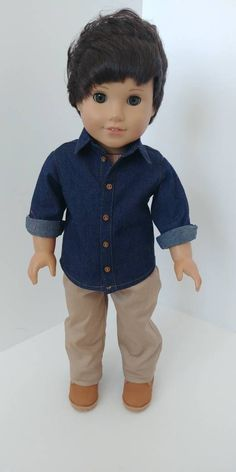 Boy Doll Clothes, Boy Clothing, Doll Clothes Patterns, Doll Patterns, American Boy Doll, American Doll Clothes, Girl Dolls, Barbie Dolls, 18 Inch Boy Doll