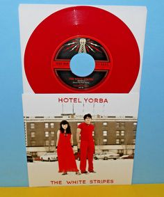 """WHITE STRIPES hotel yorba , rated x 7"""" Record RED Vinyl LIVE AT THE HOTEL #AlternativeIndieGarageRock"""