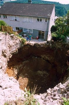 so much for the pool... #Sinkholes