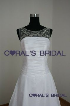 ED5080(f) Informal wedding dress with sheer neckline