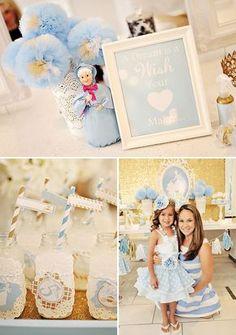 Festa Cinderela - decoração, comidas, vestidos e imagens para imprimir