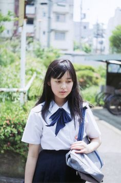 ○•SCHOOL GiRL~•○ school uniform - - bow tie - - school bag - - cute- - kawaii