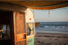 I want to camp in a vintage trailer on the beach!!!