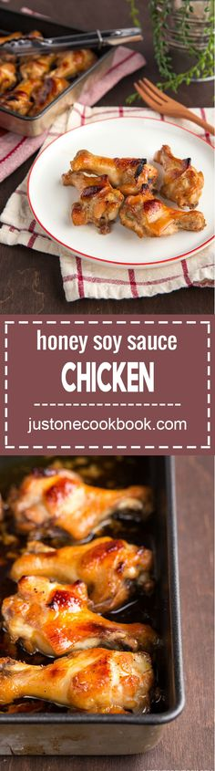 Honey Soy Sauce Chicken (はちみつ醤油チキン)   Easy Japanese Recipes at JustOneCookbook.com