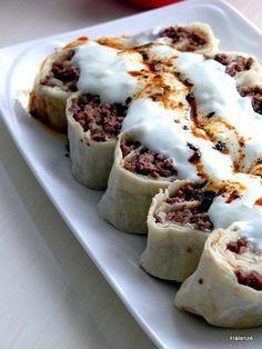 The Five Tone of Lavash: 11 Lavash Recipes That Will Give Love to the Palates with Only Five Ingredients – Canan Ramoğlu Lavaşın Beşli Tonu: Sadece Beş Malzemeyle Damaklara Aşk Yaşatacak 11 Lavaşlı Tarif Lavash + Ground Beef + Onion + Yogurt + Butter Meat Recipes, Snack Recipes, Dessert Recipes, Cooking Recipes, Arabic Food, Turkish Recipes, Food Hacks, Yogurt, The Best