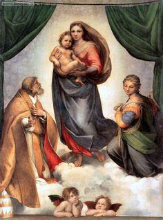Raffaello Sanzio: Madonna Sistina, olio su tela, 1513-1514 circa, Gemäldegalerie di Dresda