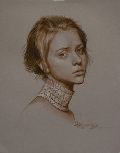 """Saatchi Art Artist William Wu; Drawing, """"Portrait of a Lithuania Girl"""" #art"""