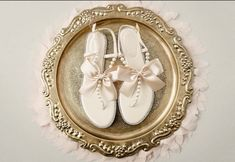 d8a3b80f3 Women and Girl Pearls Wedding Sandals - BEIGE Patent Pearl Rhinestones flat  sandal with oversized satin bow