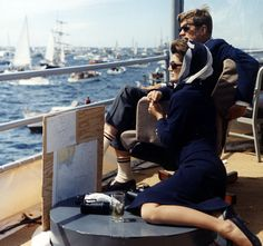 Jackie and JFK, Newport, 1962 America's Cup
