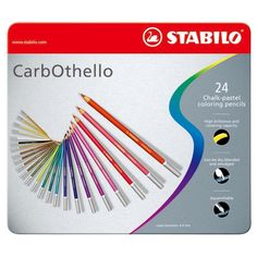 24 Stabilo Chalk Pastel Colored Pencils | Coloring & Blending Pencils | Carb-Othello Color Pencil Set by DavesSupplies on Etsy https://www.etsy.com/listing/246577539/24-stabilo-chalk-pastel-colored-pencils