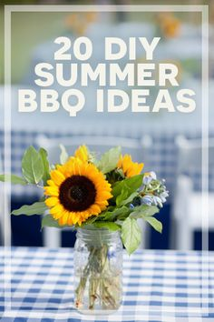 20 DIY Summer BBQ Ideas | Decorations, games, food and more.